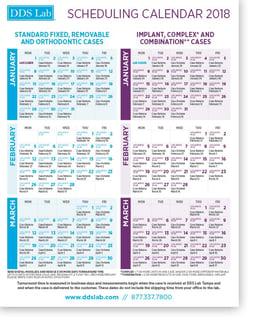 Scheduling Calendar | JAN - MARCH